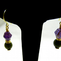 Amethyst and Jade Earrings