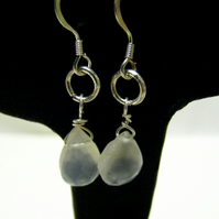 White Moonstone Gemstone Earrings