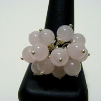 Rose Quartz Adjustable Ring