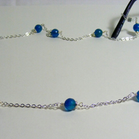 Blue Agate Spectacle Chain