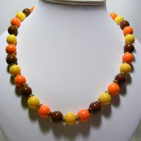 Chocolate and Citrus Jewellery Set