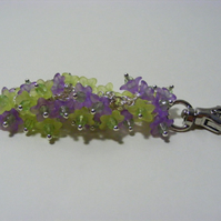 Lilac and Spring Green Flower Bag Charm