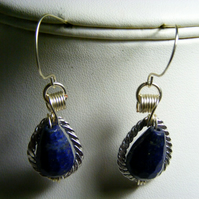 Lapis Lazuli Drop Gemstone Earrings