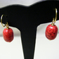 Red Magnesite Earrings