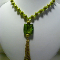 Lemon and Lime Tassel Necklace