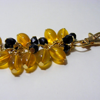 Black and Amber Colour Bag Charm