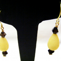 Smokey Quartz and Quartzite Gemstone Drop Earrings
