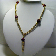 Jasper Chain Maille Necklace