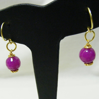 Purple Quartzite Gemstone Earrings
