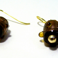 Brown Glass Earrings