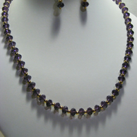 Purple Crystal Jewellery Set