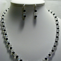 Crystal AB and Black Crystal Jewellery Set