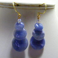 Blue Lace Jasper Gemstone Earrings