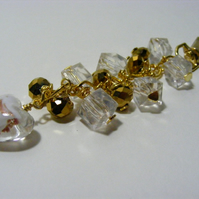 Gold and Clear Bag Charm