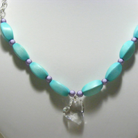 Pastel Blue and Lilac Necklace