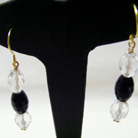 Agate and Quartz Gemstone Earrings