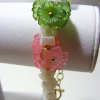Shell and Flower Bracelet