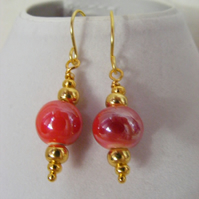 Red Porcelain Earrings