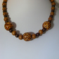 Animal Print Wood Necklace