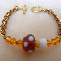 Brown Toadstool Bracelet