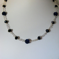 Jet and Navy Necklace