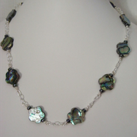 Abalone Flower Necklace