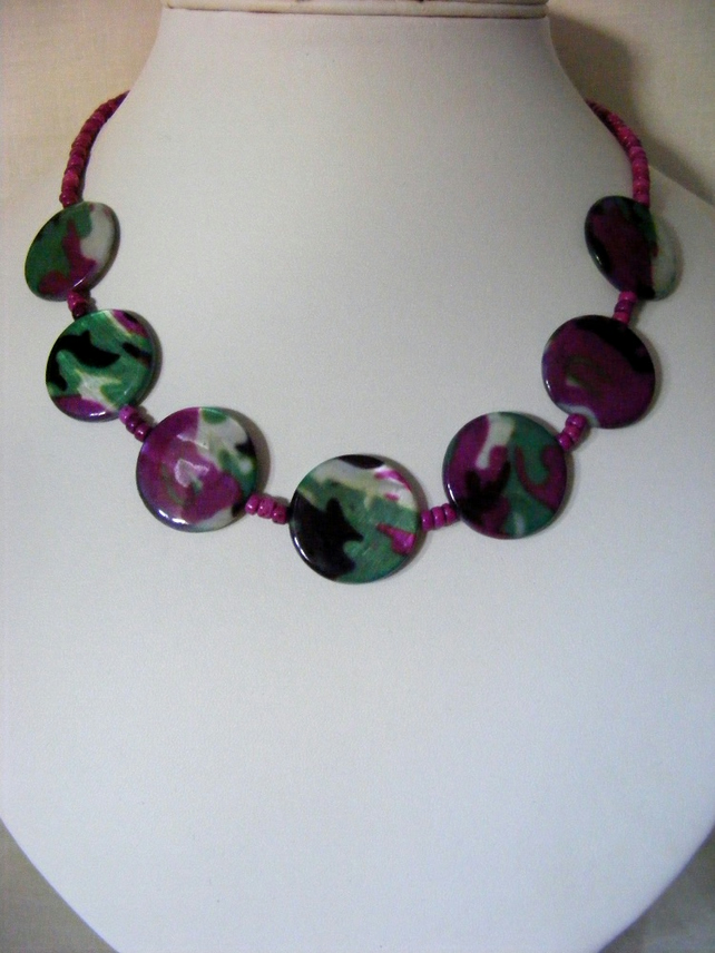 Multi Colour Shell Necklace