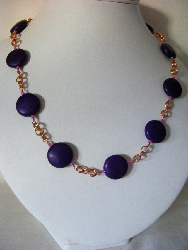 Purple Magnesite Necklace