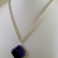 Chainmaille Agate Pendant Necklace