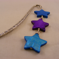 Turquoise and Purple Star Bookmark