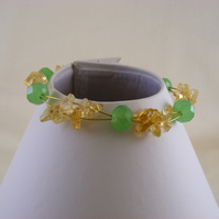 Citrine and Green Bangle