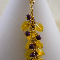 Purple and Yellow Bag Charm