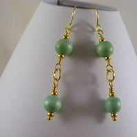 Light Green Wood Earrings