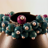 Blue and Purple Bubble Bracelet