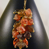 Orange and Brown Acrylic Bag Charm