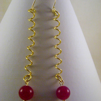 Fuchsia Jade Earrings