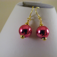 Fuchsia Bauble Earrings