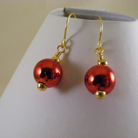 Red Bauble Earrings