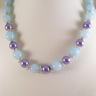 Purple and Pale Blue Necklace