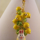 Lemon and Lime Rabbit Bag Charm