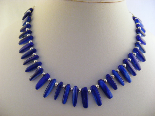 Royal Blue Shell Necklace