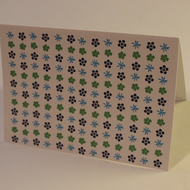 Greeting card - blank card - birthday card - surf flower - sale - a6 card