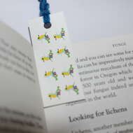 Bookmark - mini bookmark - hummingbird pattern