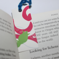 Bookmark - mini bookmark - swirl design