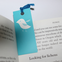 Sale: Cute blue bird bookmark
