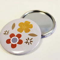 Sale: retro flower pocket mirror
