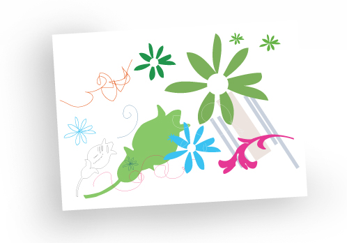 Greeting card - blank card - birthday card - mixed flowers - sale - pack of 4