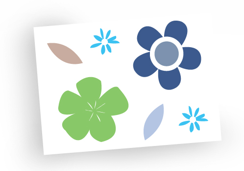 Greeting card - blank card - birthday card - funky flowers - sale - pack of 4