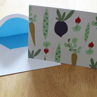 Sale: Vegetable pattern greetings card