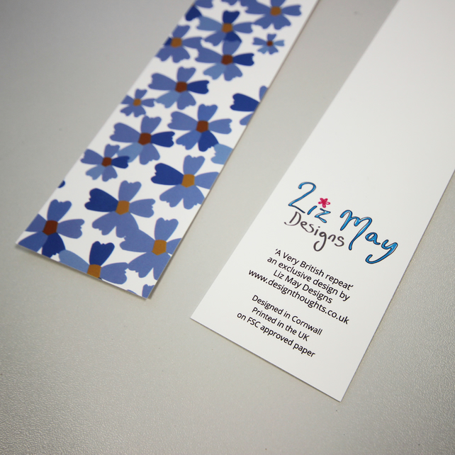 Cornflower blue bookmark